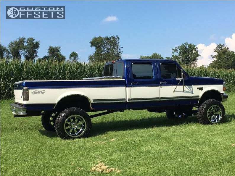 """1997 Ford F-350 Super Aggressive 3""""-5"""" on 20x12 -44 offset Gear Off-Road Big Block and 35""""x12.5"""" Federal Couragia MT on Suspension Lift 6"""" - Custom Offsets Gallery"""