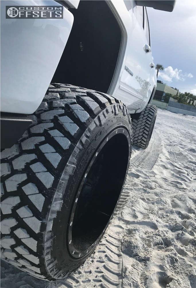 "2016 Chevrolet Silverado 1500 Hella Stance >5"" on 24x16 -100 offset Fuel Maverick & 375/40 Nitto Trail Grappler on Suspension Lift 10"" - Custom Offsets Gallery"