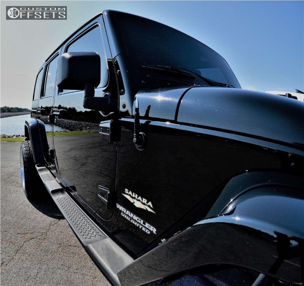 "2011 Jeep Wrangler Super Aggressive 3""-5"" on 22x12 -44 offset Hostile Sprocket and 305/11.5 Nitto Terra Grappler G2 on Suspension Lift 3.5"" - Custom Offsets Gallery"