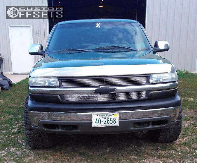 """1999 Chevrolet Silverado 1500 Super Aggressive 3""""-5"""" on 16x10 -32 offset Pacer Warrior and 305/70 Fierce Attitude Mt on Suspension Lift 3"""" - Custom Offsets Gallery"""