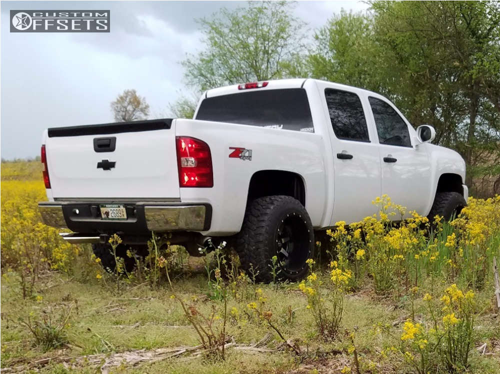 "2007 Chevrolet Silverado 1500 Super Aggressive 3""-5"" on 20x14 -76 offset Fuel Maverick and 305/55 Mastercraft Courser Mxt on Suspension Lift 3.5"" - Custom Offsets Gallery"