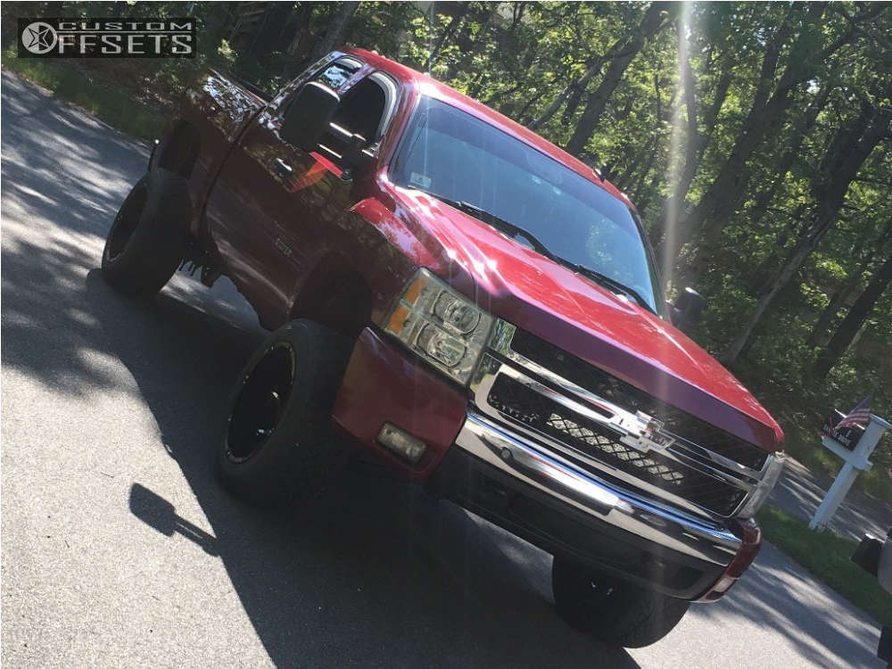 """2008 Chevrolet Silverado 1500 Super Aggressive 3""""-5"""" on 20x12 -51 offset Vision Prowler and 305/50 Nitto Nt420s on Suspension Lift 3.5"""" - Custom Offsets Gallery"""