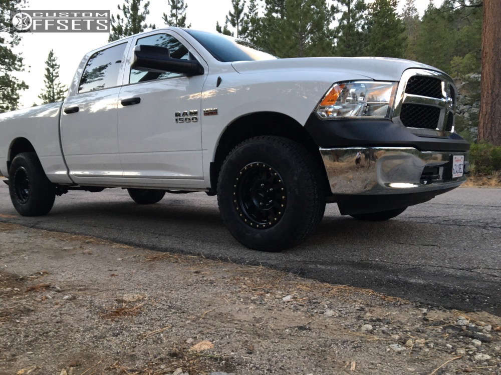 2017 Ram 1500 Slightly Aggressive on 17x8.5 0 offset Method Double Standard and 285/70 Firestone Destination A/t on Leveling Kit - Custom Offsets Gallery