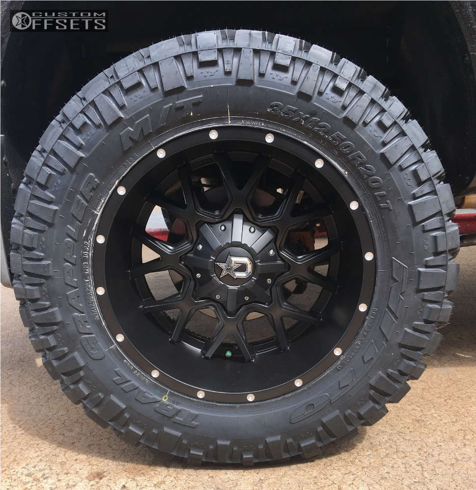 """2013 Nissan Titan Aggressive > 1"""" outside fender on 20x10 -19 offset Dropstars 645b & 35""""x12.5"""" Nitto Trail Grappler on Suspension Lift 6"""" - Custom Offsets Gallery"""