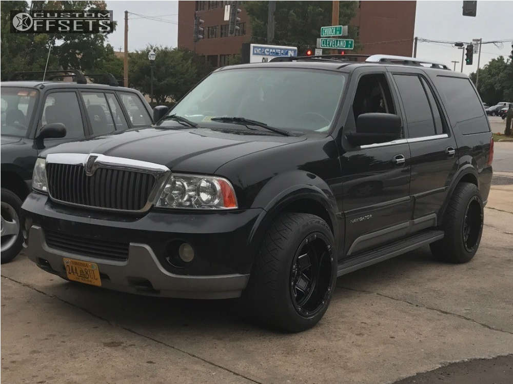 """2003 Lincoln Navigator Super Aggressive 3""""-5"""" on 20x12 -45 offset Tuff T10 and 285/50 Nitto Nt420s on Stock Suspension - Custom Offsets Gallery"""