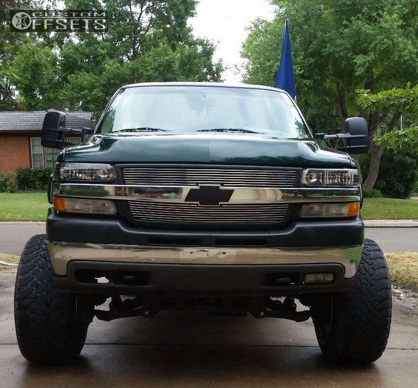 """2002 Chevrolet Silverado 2500 HD Super Aggressive 3""""-5"""" on 22x14 -76 offset Hostile Havoc and 35""""x12.5"""" Toyo Tires Open Country M/T on Suspension Lift 6"""" & Body 3"""" - Custom Offsets Gallery"""