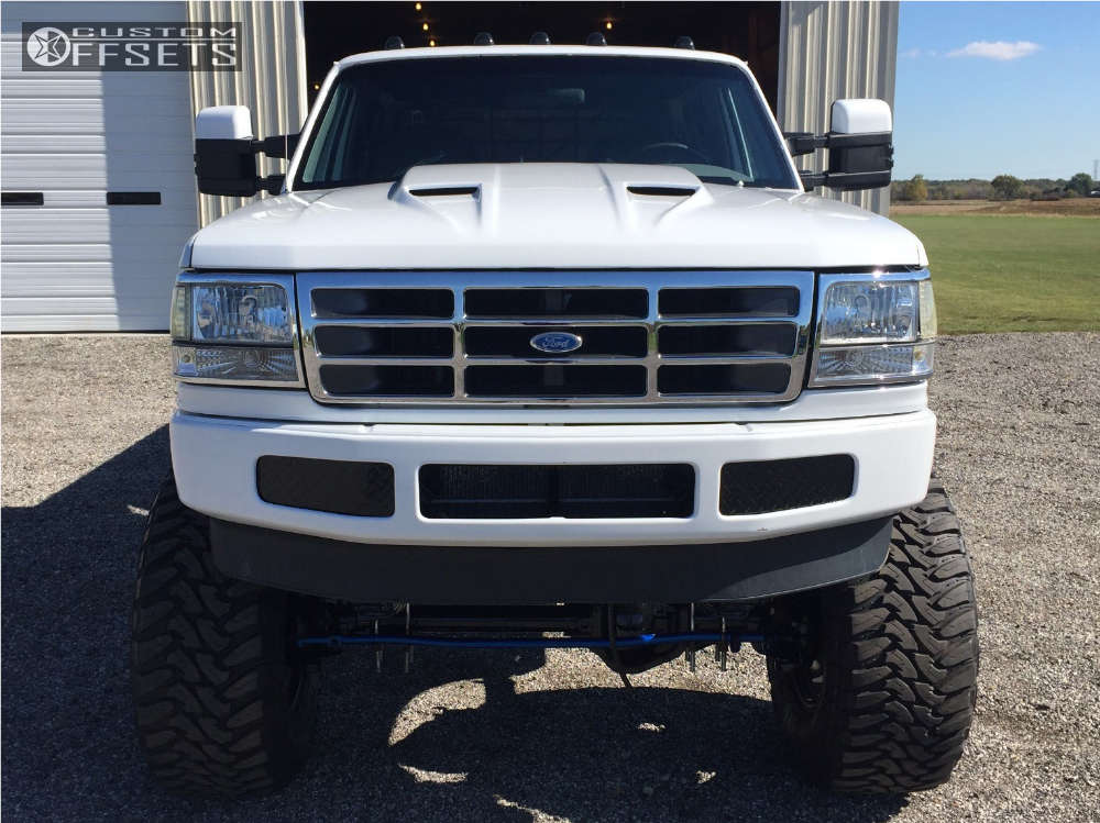 """1996 Ford F-350 Super Aggressive 3""""-5"""" on 20x12 -44 offset Fuel Octane and 40""""x15.5"""" Toyo Tires Open Country M/T on Suspension Lift 8"""" - Custom Offsets Gallery"""