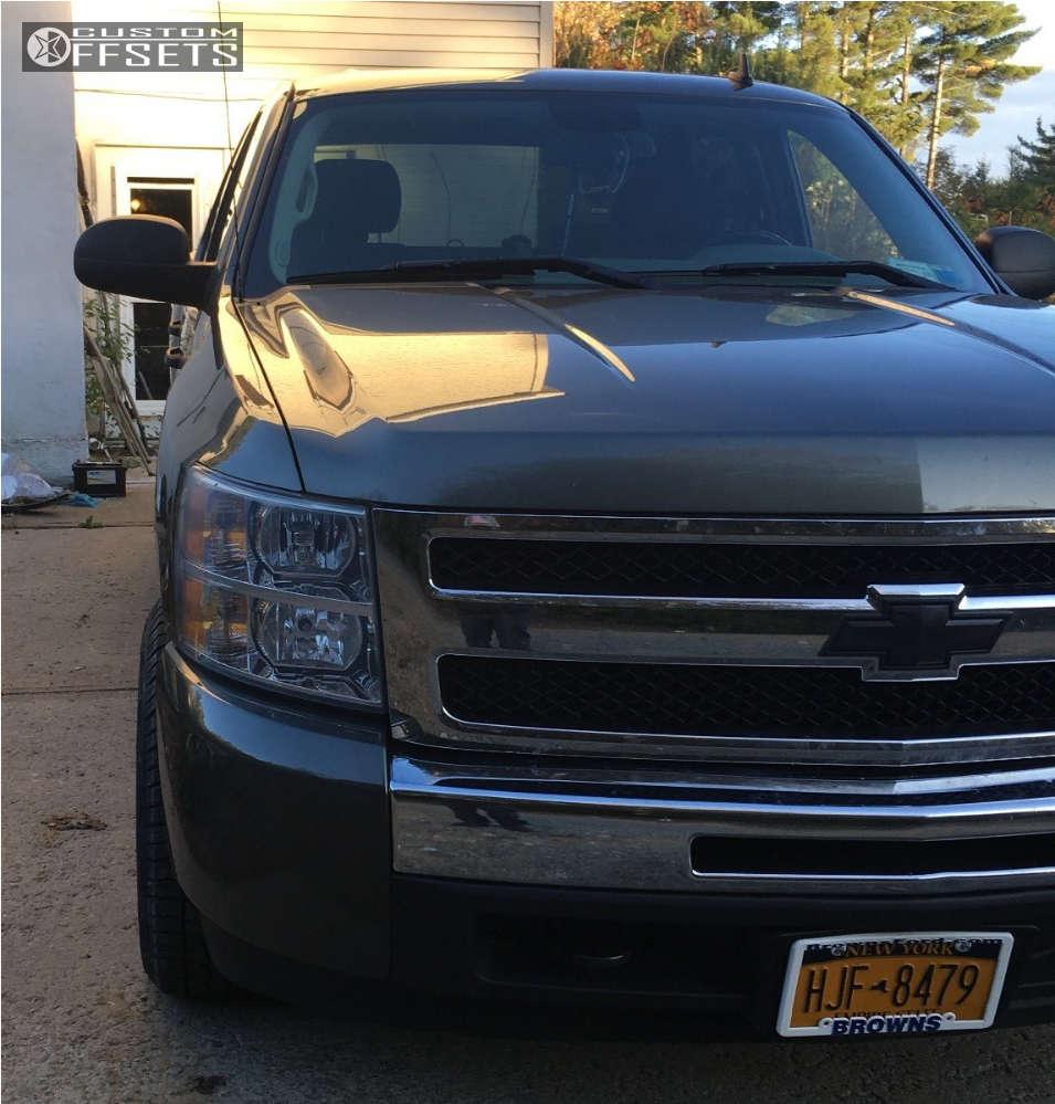 "2011 Chevrolet Silverado 1500 Slightly Aggressive on 17x9 -6 offset Rebel Racing Buckshot and 265""x65"" Westlake Sl369 on Stock Suspension - Custom Offsets Gallery"