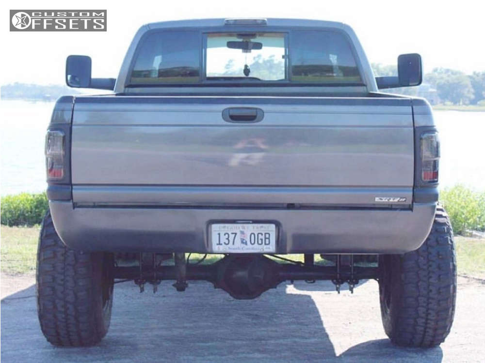 """1994 Dodge Ram 1500 Hella Stance >5"""" on 18x12 -44 offset Fuel Hostage & 37""""x12.5"""" Federal Couragia Mt on Suspension Lift 10"""" - Custom Offsets Gallery"""