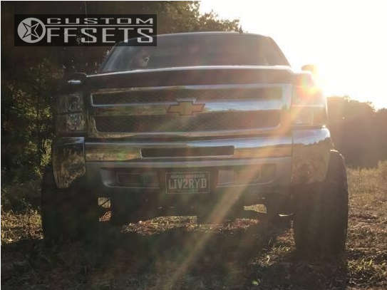 """2012 Chevrolet Silverado 1500 Super Aggressive 3""""-5"""" on 20x12 -44 offset Hostile Sprocket and 33""""x12.5"""" Nitto Trail Grappler on Suspension Lift 6"""" - Custom Offsets Gallery"""