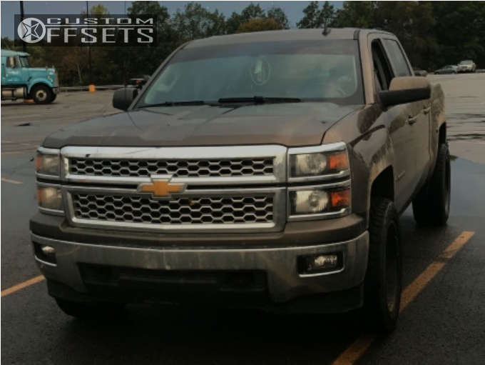 """2014 Chevrolet Silverado 1500 Aggressive > 1"""" outside fender on 20x10 -24 offset Moto Metal Mo971 and 285""""x55"""" Mastercraft Courser Axt on Suspension Lift 5"""" - Custom Offsets Gallery"""