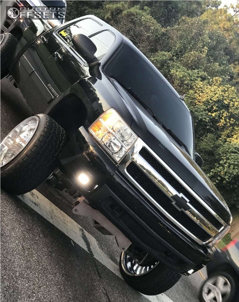 """2007 Chevrolet Silverado 1500 Super Aggressive 3""""-5"""" on 24x14 -73 offset American Force Flex Ss and 305/35 Nitto Terra Grappler on Suspension Lift 8"""" - Custom Offsets Gallery"""