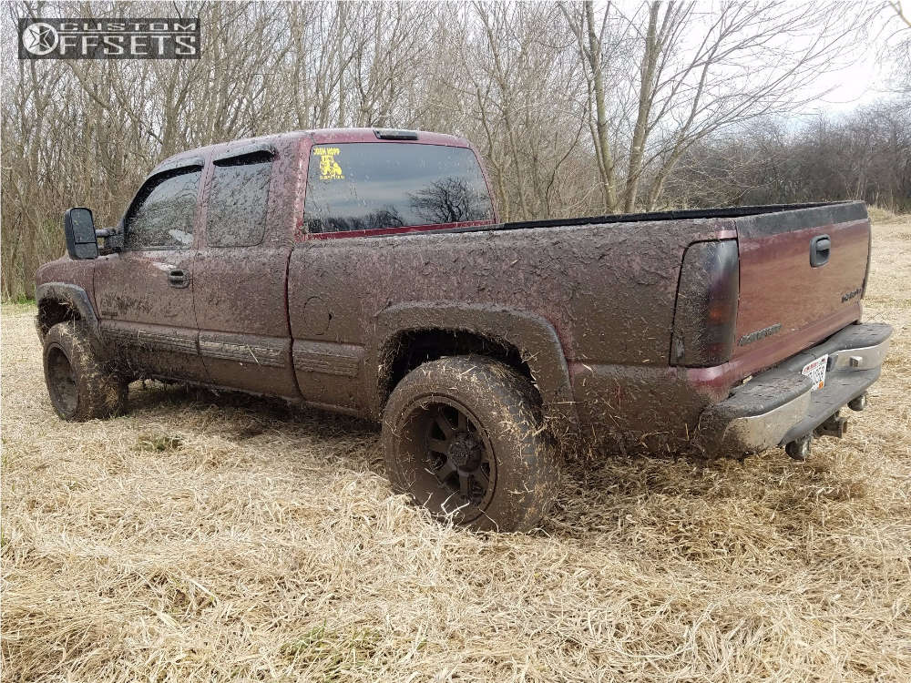 """1999 Chevrolet Silverado 1500 Super Aggressive 3""""-5"""" on 20x12 -44 offset Gear Off-Road 726 and 305/50 Hankook Dynapro At-m on Leveling Kit - Custom Offsets Gallery"""