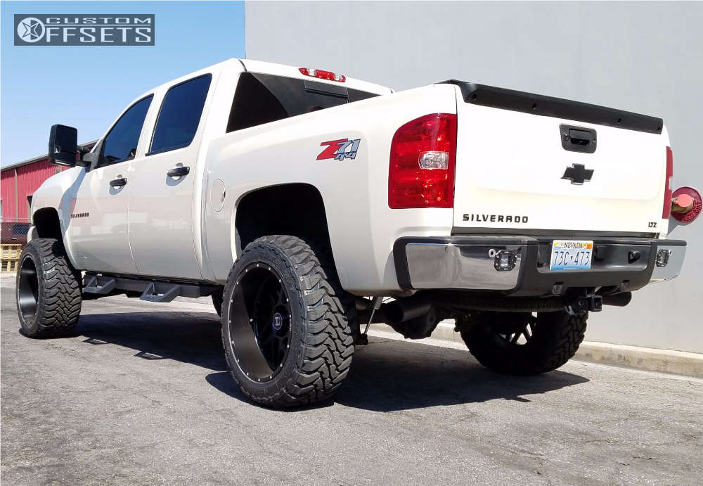"""2013 Chevrolet Silverado 1500 Super Aggressive 3""""-5"""" on 22x12 -44 offset Hostile Sprocket & 35""""x12.5"""" Toyo Tires Open Country M/T on Suspension Lift 6"""" - Custom Offsets Gallery"""