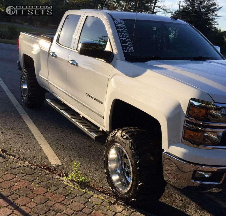 "2014 Chevrolet Silverado 1500 Super Aggressive 3""-5"" on 18x12 -44 offset Fuel Maverick & 33""x12.5"" Nitto Mud Grappler on Suspension Lift 5"" - Custom Offsets Gallery"