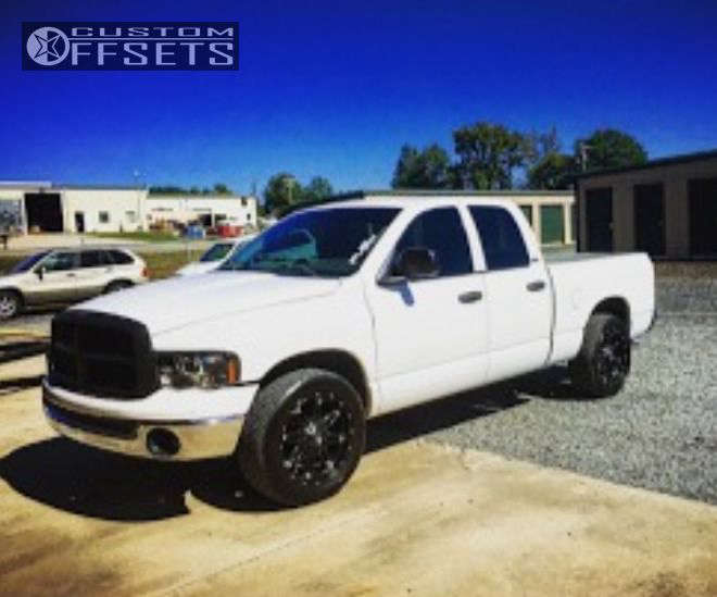 2003 Dodge Ram 1500 Nearly Flush on 20x9 -12 offset Fuel Hostage & 285/50 Nitto Nt420s on Lowered on Springs - Custom Offsets Gallery