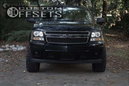 """2010 Chevrolet Suburban Super Aggressive 3""""-5"""" on 20x12 -43 offset Fuel Assault and 33""""x12.5"""" Federal Couragia Mt on Suspension Lift 4"""" - Custom Offsets Gallery"""