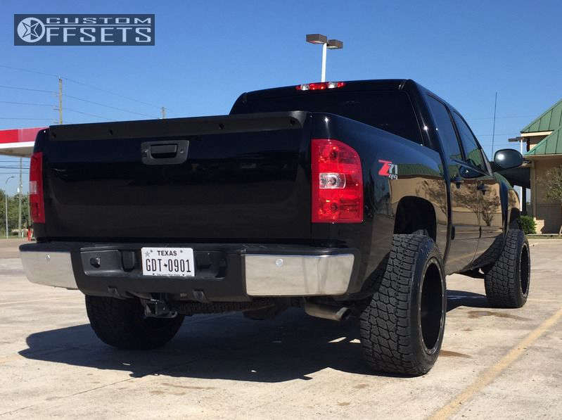 """2011 Chevrolet Silverado 1500 Super Aggressive 3""""-5"""" on 20x12 -44 offset Fuel Maverick and 305""""x50"""" Nitto Terra Grappler G2 on Leveling Kit - Custom Offsets Gallery"""