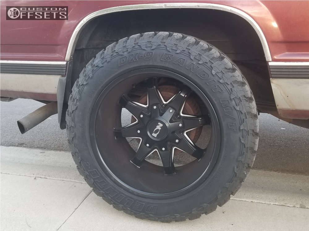 """1998 Chevrolet K1500 Suburban Super Aggressive 3""""-5"""" on 20x12 -44 offset Alloy Ion Style 181 & 33""""x12.5"""" Delinte Dx-9 Bandit M/t on Stock Suspension - Custom Offsets Gallery"""