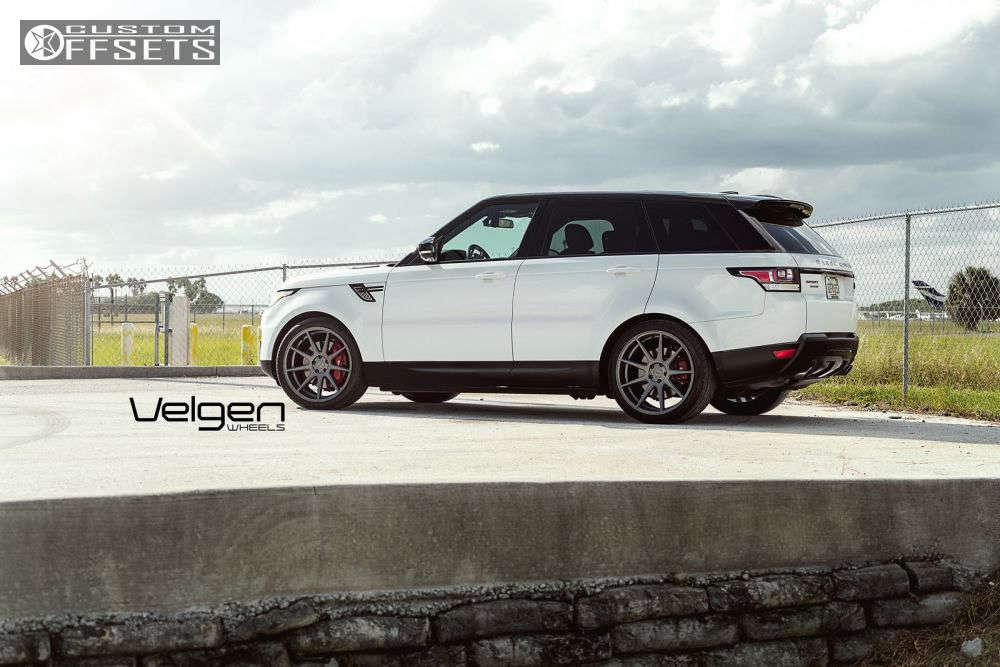 2015 Land Rover Range Rover Sport Flush on 22x10.5 37 offset Velgen VMB9 and 285/35 Nitto NT555 G2 on Stock - Custom Offsets Gallery