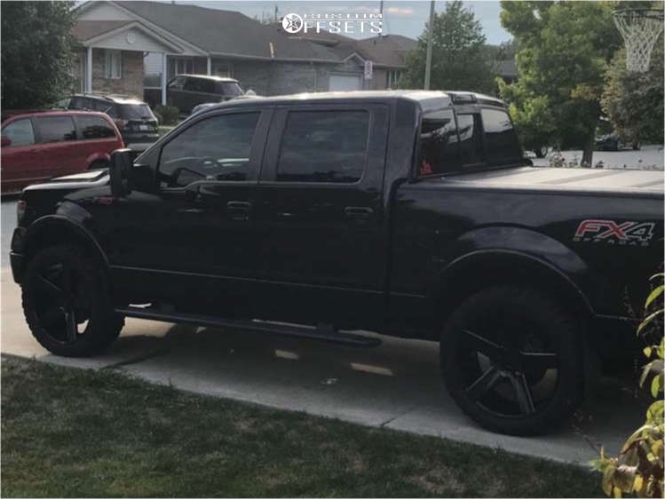 """2013 Ford F-150 Nearly Flush on 24x10 31 offset DUB Baller & 35""""x12.5"""" Comforser Cf3000 on Stock Suspension - Custom Offsets Gallery"""