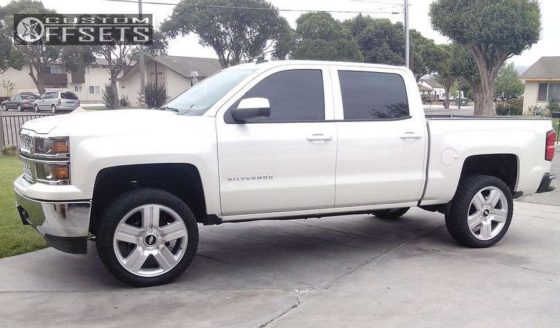 """2014 Chevrolet Silverado 1500 Tucked on 22x9 31 offset Oe Performance 147 and 305/55 Nitto Terra Grappler G2 on Suspension Lift 3.5"""" - Custom Offsets Gallery"""