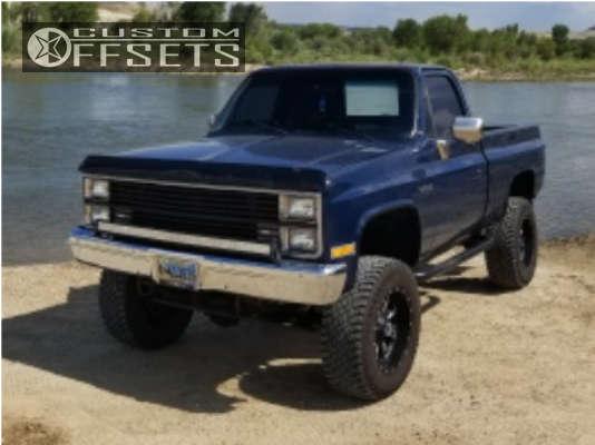 "1984 Chevrolet K10 HellaFlush on 18x9 -1 offset Fuel Throttle & 35""x12.5"" Atturo Trail Blade Xt on Suspension Lift 4"" - Custom Offsets Gallery"