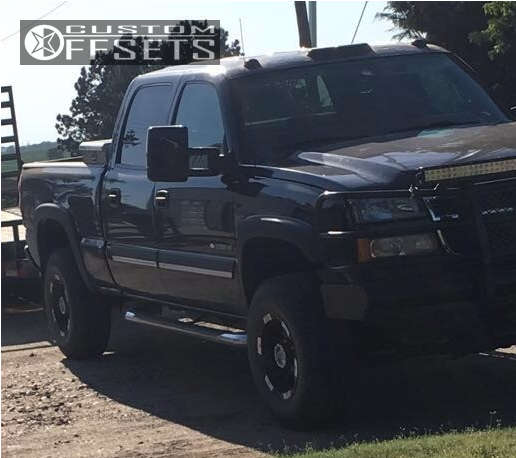 """2005 Chevrolet Silverado 2500 HD Classic Slightly Aggressive on 16x9 -12 offset Moto Metal Mo951 and 265/75 Firestone Destination A/t on Suspension Lift 3"""" - Custom Offsets Gallery"""