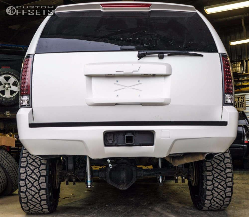 "2010 Chevrolet Suburban 2500 Super Aggressive 3""-5"" on 22x12 -44 offset Gear Off-Road Big Block & 35""x12.5"" Nitto Ridge Grappler on Suspension Lift 6"" - Custom Offsets Gallery"