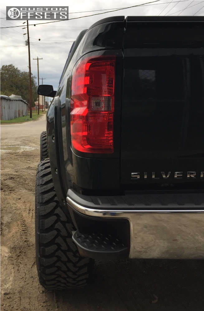 """2014 Chevrolet Silverado 1500 Super Aggressive 3""""-5"""" on 24x14 -76 offset Fuel Forged Ff19 & 37""""x13.5"""" Toyo Tires Open Country M/T on Suspension Lift 6"""" - Custom Offsets Gallery"""
