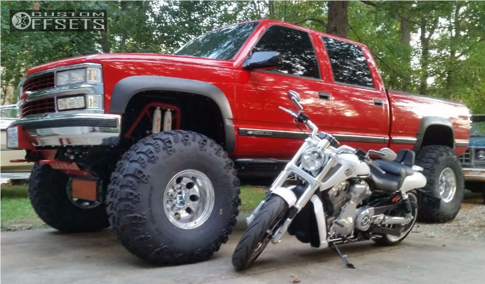 """1999 Chevrolet K2500 Super Aggressive 3""""-5"""" on 16x12 -50 offset Mickey Thompson Classic Iii and 41""""x14.5"""" Super Swamper Irok on Lifted >12"""" - Custom Offsets Gallery"""