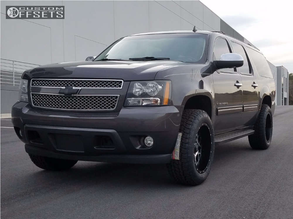 """2011 Chevrolet Suburban Aggressive > 1"""" outside fender on 20x10 -24 offset Xd Xd820 and 275/60 Nitto Terra Grappler G2 on Suspension Lift 2.5"""" - Custom Offsets Gallery"""