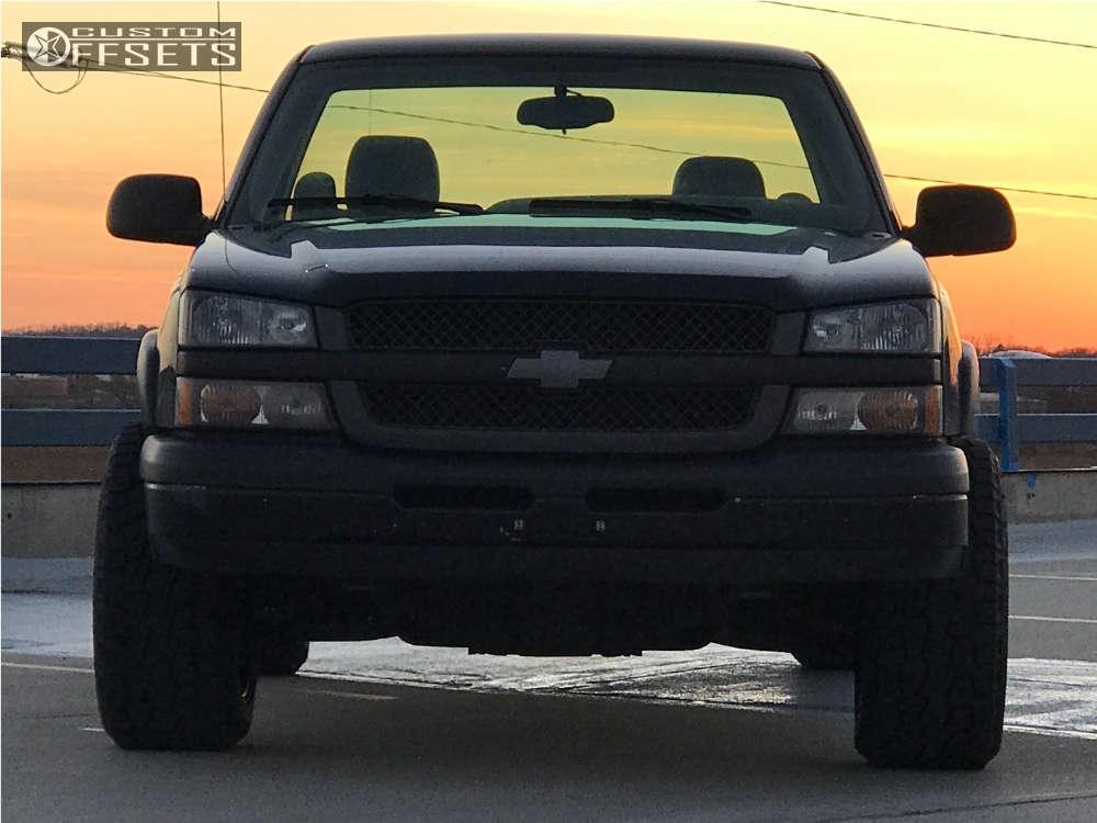 "2005 Chevrolet Silverado 1500 Super Aggressive 3""-5"" on 20x12 -44 offset Gear Off-Road 726b & 32""x12.5"" Hankook Dynapro At-m on Level 2"" Drop Rear - Custom Offsets Gallery"