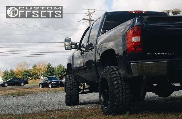 """2009 Chevrolet Silverado 1500 Super Aggressive 3""""-5"""" on 20x12 -46 offset Fuel Octane and 35""""x12.5"""" Federal Couragia Mt on Suspension Lift 8"""" - Custom Offsets Gallery"""