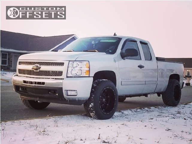 """2010 Chevrolet Silverado 1500 Super Aggressive 3""""-5"""" on 20x12 -44 offset Fuel Hostage & 305/50 Nitto Nt420s on Leveling Kit - Custom Offsets Gallery"""