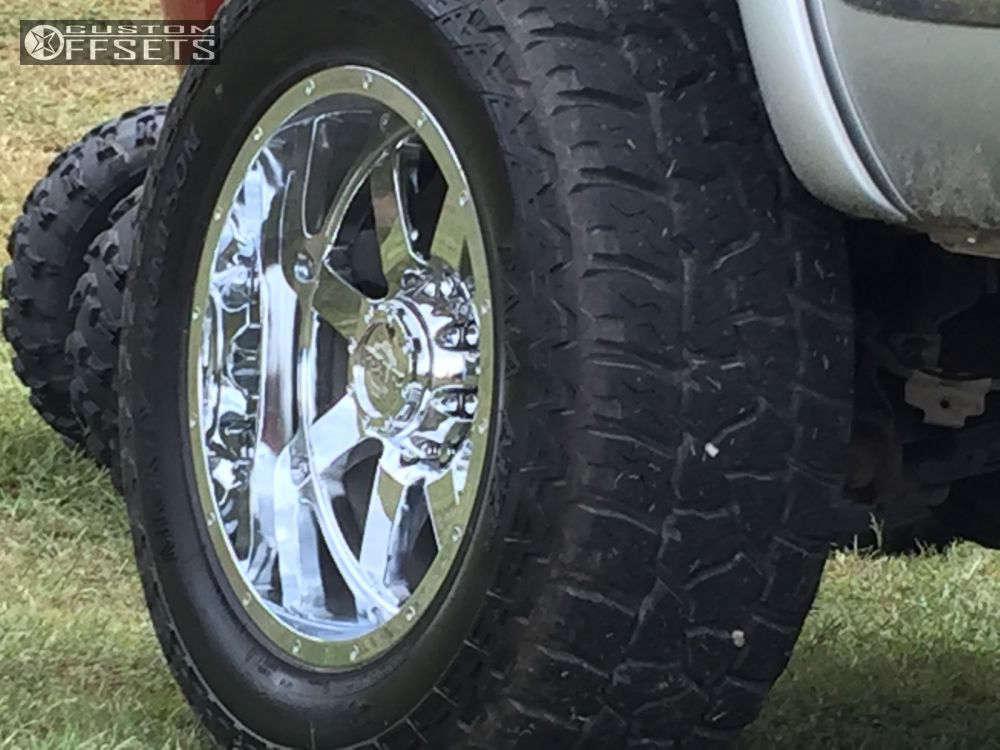 "2007 Dodge Ram 2500 Aggressive > 1"" outside fender on 20x10 -19 offset Gear Off-Road Big Block & 35""x12.5"" Mickey Thompson Baja Atz P3 on Suspension Lift 4.5"" - Custom Offsets Gallery"