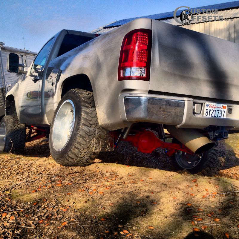 """2008 GMC Sierra 1500 Super Aggressive 3""""-5"""" on 20x12 -44 offset Moto Metal MO962 and 33""""x12.5"""" Cooper Discoverer STT on Suspension Lift 6"""" - Custom Offsets Gallery"""