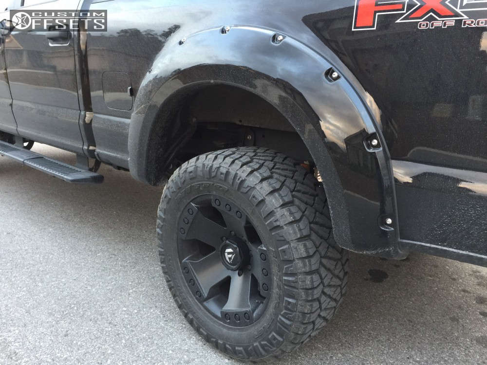 """2017 Ford F-250 Super Duty Super Aggressive 3""""-5"""" on 20x10 -18 offset Fuel Monsta and 35""""x13.5"""" Nitto Ridge Grappler on Leveling Kit - Custom Offsets Gallery"""