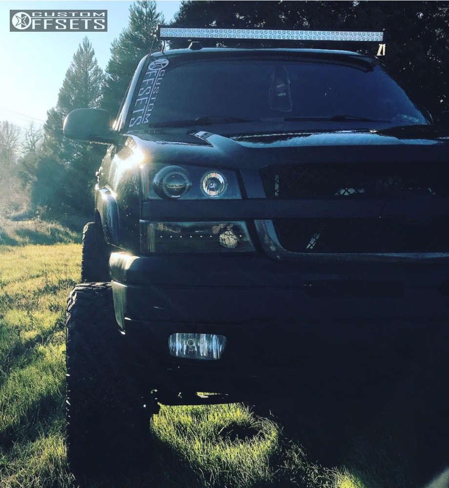 "2005 Chevrolet Silverado 1500 Super Aggressive 3""-5"" on 20x12 -44 offset Fuel Maverick D538 & 35""x12.5"" Nitto Trail Grappler on Suspension Lift 6"" & Body 3"" - Custom Offsets Gallery"