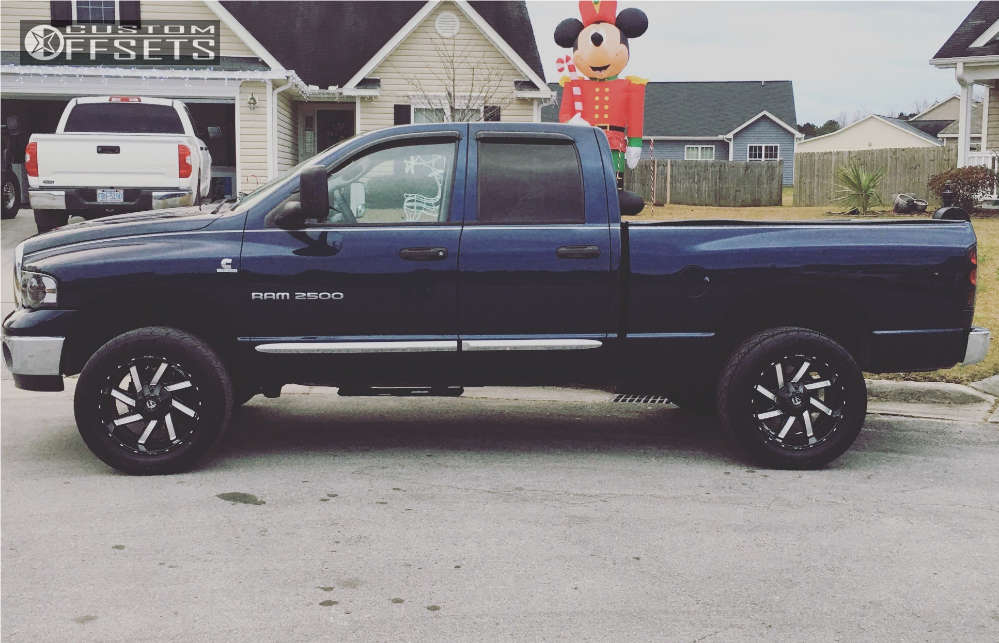 """2005 Dodge Ram 2500 Slightly Aggressive on 20x10 -19 offset Fuel Moab & 305/50 Nitto Nt420s on Level 2"""" Drop Rear - Custom Offsets Gallery"""