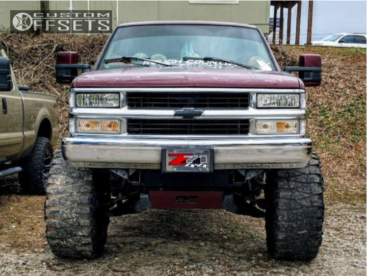 """1997 Chevrolet K1500 Super Aggressive 3""""-5"""" on 20x12 -51 offset Vision Cannibal & 38""""x15.5"""" Nitto Mud Grappler on Suspension Lift 6"""" & Body 3"""" - Custom Offsets Gallery"""