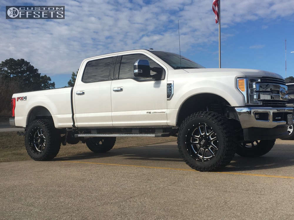 """2017 Ford F-250 Super Duty Slightly Aggressive on 22x10 -18 offset XD Xd828 and 37""""x13.5"""" Cooper Discoverer Stt Pro on Suspension Lift 4"""" - Custom Offsets Gallery"""