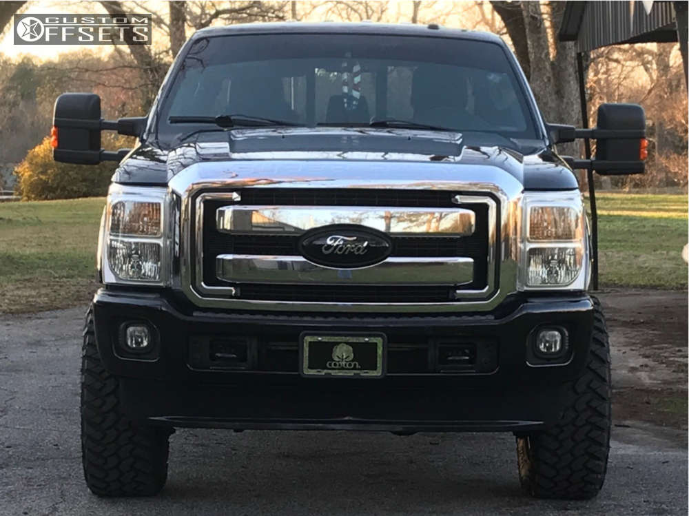 """2012 Ford F-250 Super Duty Aggressive > 1"""" outside fender on 20x9 -12 offset XD Xd795 and 35""""x12.5"""" Nitto Trail Grappler on Leveling Kit - Custom Offsets Gallery"""