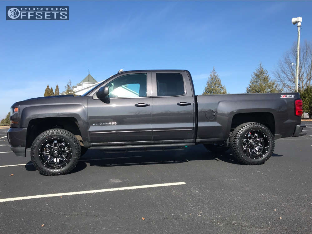 """2016 Chevrolet Silverado 1500 Slightly Aggressive on 20x10 -12 offset Fuel Lethal & 33""""x12.5"""" Atturo Trail Blade Xt on Leveling Kit - Custom Offsets Gallery"""
