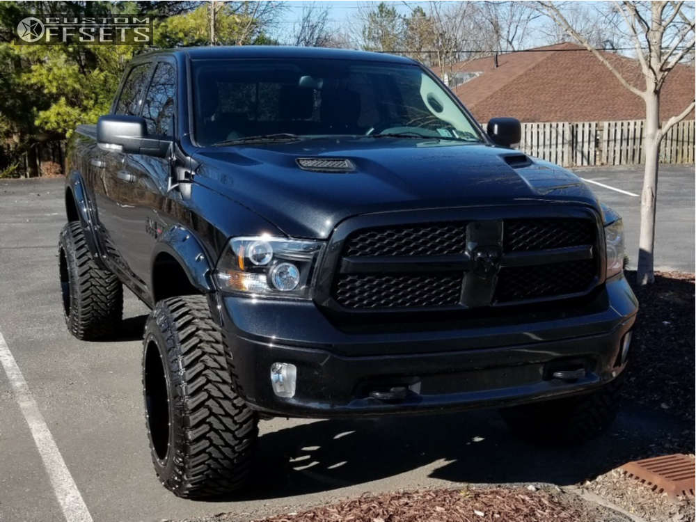 """2015 Ram 1500 Super Aggressive 3""""-5"""" on 22x14 -70 offset Fuel Cleaver & 37""""x13.5"""" Atturo Trail Blade Mt on Suspension Lift 6"""" - Custom Offsets Gallery"""