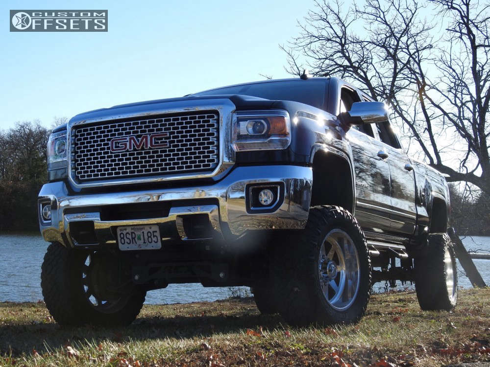"""2015 GMC Sierra 2500 HD Super Aggressive 3""""-5"""" on 20x12 -40 offset American Force Independence Ss & 35""""x12.5"""" Nitto Trail Grappler on Suspension Lift 7.5"""" - Custom Offsets Gallery"""