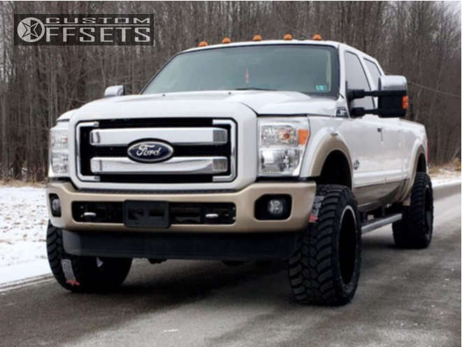 """2011 Ford F-250 Super Duty Super Aggressive 3""""-5"""" on 22x12 -44 offset Gear Off-Road Big Block and 325""""x50"""" AMP Mud Terrain Attack MT A on Leveling Kit - Custom Offsets Gallery"""