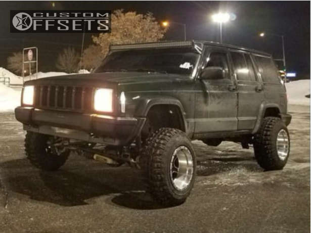 """1996 Jeep Cherokee Super Aggressive 3""""-5"""" on 15x10 -44 offset Pacer Navigator & 235/75 Federal Couragia MT on Suspension Lift 6.5"""" - Custom Offsets Gallery"""