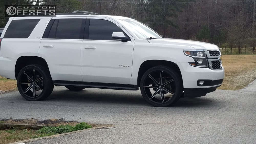 2015 Chevrolet Tahoe Flush on 24x9.5 30 offset 2Crave N29 and 305/35 Nankang Sp-7 on Stock Suspension - Custom Offsets Gallery