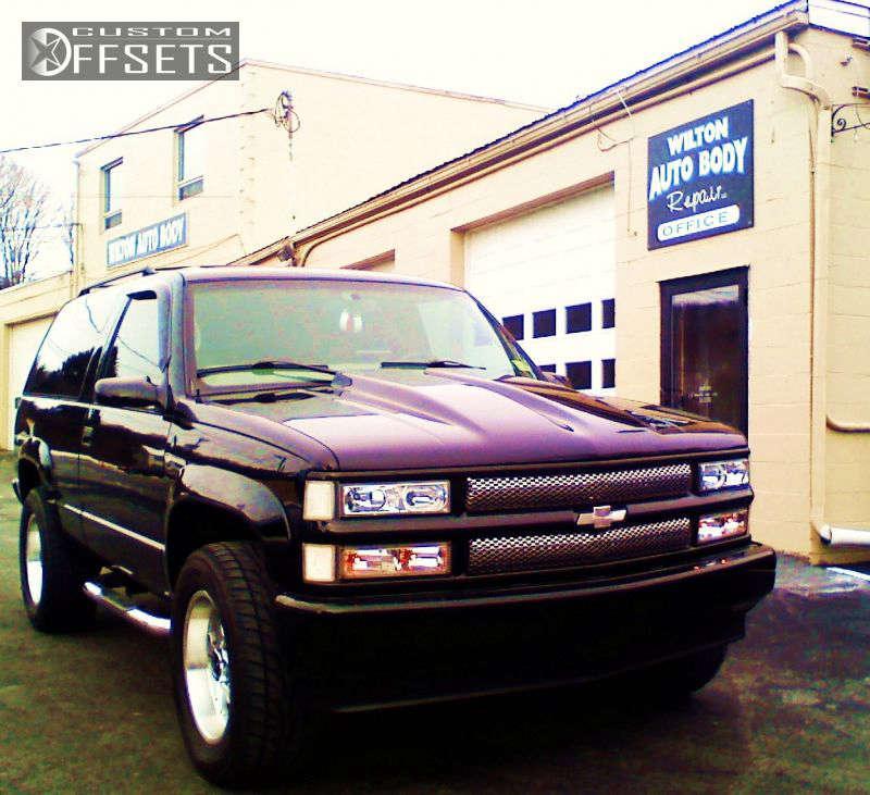 1998 Chevrolet Tahoe Slightly Aggressive on 18x8.5 0 offset Enkei RT-6 and 285/60 Falken Ziex S/TZ04 on Leveling Kit - Custom Offsets Gallery